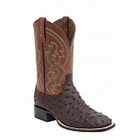 "*NEW* Lucchese Men's ""Josiah"" Sienna Full Quill ostrich Leather Horseman Boot M2696"