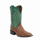 "*NEW* Lucchese Men's ""Josiah"" Tan Full Quill Ostrich Leather Horseman Boot M2694"