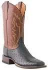 *NEW* Lucchese Since 1883 Mens Salerno Black Full Quill Ostrich Cowboy Boots M1612