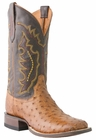 *NEW* Lucchese Since 1883 Mens Tan Burnished Full Quill Ostrich Cowboy Boots M1613