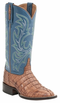 "Women's Lucchese ""Lexie"" Whiskey Hornback Caiman Tail & Calf Leather Boots M4945"