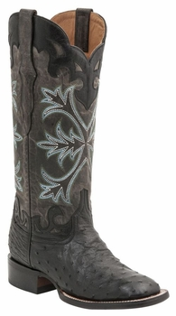"""Women's Lucchese """"Rowena"""" Black Full Quill Ostrich & Calf Leather Boots M4938"""