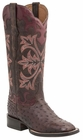 "Women's Lucchese ""Rowena"" Sienna Full Quill Ostrich Leather Boots M4940"