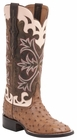 "Women's Lucchese ""Rowena"" Tan Full Quill Ostrich Leather Boots M4939"