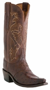 """Women's Lucchese """"Augusta"""" Sienna Burnished & Redwood Full Quill Ostrich Boots M5601"""