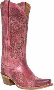 "*NEW* Lucchese Women's ""Charity"" Pink Distressed Boot M4968"
