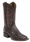 Mens Lucchese Since 1883 Hornback Caiman Tail Barrel Brown Boot - Landon M2686