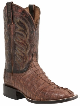 Mens Lucchese Since 1883 Hornback Caiman Tail Tan Boot - Landon M2685