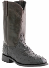 Mens Lucchese Since 1883 Napoli Black Full Quill Ostrich Roper Boots M1632