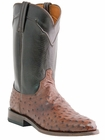 Mens Lucchese Since 1883 Napoli Sienna Full Quill Ostrich Roper Boots M1631