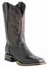 Mens Lucchese Since 1883 Refugio Black Belly Tail Crocodile Cowboy Boots M1646