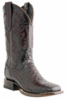 Mens Lucchese Since 1883 Refugio Black Cherry Belly Tail Crocodile Cowboy Boots M1647