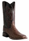 *NEW* Mens Lucchese Since 1883 Refugio Sienna Belly Tail Crocodile Cowboy Boots M1645