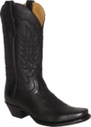 "Star Boots for Men 13"" Black Cowboy Leather Boots M7040"