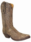 "Star Boots for Men 13"" Vintage Cowboy Boots M7030"