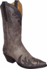 "Star Boots for Men 13"" Grey Mulan Cowboy Leather Boots M7120"