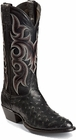 Nocona Boots Mens Black Full Quill Ostrich Boots MD8501