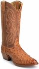 Nocona Boots Mens Cognac Vintage Full Quill Ostrich Western Boots MD8502