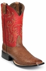 Nocona Mens Antique Medium Brown Smooth Ostrich Cowboy Boots MD6903
