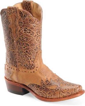 """Sonora® By Double H Womens """"Jessi"""" 9"""" Rust Full Grain Leather Boots SN1015"""