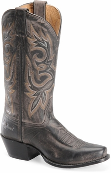 """Sonora® By Double H Womens """"Maya"""" 11"""" Charcoal Full Grain Leather Boots SN1001"""