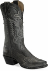 "Sonora® By Double H Womens ""Riley"" 12"" Black Full Grain Leather Boots SN1203"