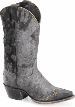 """Sonora® By Double H Womens """"Riley"""" 12"""" Black Rough-Out Leather Boots  SN1045"""