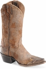 "Sonora® By Double H Womens ""Riley"" 12"" Brown Rough-Out Leather Boots SN1043"