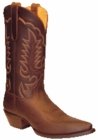 "Star Boots for Men 13"" Brown Crazy Horse Leather Cowboy Boots M7010"