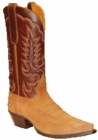 "Star Boots for Men 13"" Tan Suede Leather Cowboy Boots M7017"