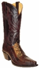 Star Boots for Men Black Cherry Ostrich Leg Leather Boots M9220