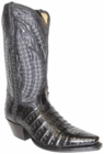 Star Boots for Men Black Plonge Caiman Crocodile Belly Leather Boots M5001