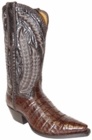 Star Boots for Men Chocolate Plonge Caiman Crocodile Belly Leather Boots M5000