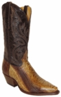 Star Boots for Men Lama (Golden Brown) Ostrich Leg Leather Boots M9232