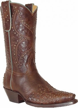 "Star Boots For Women 11"" Brass Goat Cowboy Boots W7171B"