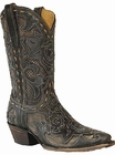 Star Boots For Women Black Stella With Cream Print Inlay W7146B