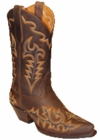 Star Boots for Women Brown Crazy Horse Leather Cowboy Boots W7021