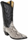 Star Boots for Women Natural Belly Cut Python Snake Boots W9240