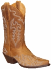 Star Boots for Women Tan Crazy Horse Leather Cowboy Boots W7020
