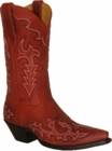 Star Boots Red Mulan Cowboy with Fancy Stitching 11' W7032