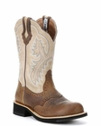 Store Special Size 5.5 Ariat Womens Showbaby Boot Earth/Bone Crackle 10005904