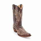 "Store Special Size 5.5 Corral Ladies Circle G Tan Embroidered Cowgirl Boots L5002<Font color=""Red""> B</Font>"