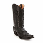 "Store Special Size 5.5 Corral Womens Circle G Black Butterfly Embroidered Cowgirl Boots L5003<Font color=""Red""> B</Font>"