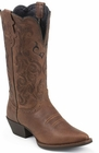 Store Special Size 5.5 Justin Ladies Dark Brown Mustang Cowhide Leather Boots L2559
