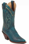 Store Specials Size 5.5 Justin Ladies Classic Western Turquoise Damiana L4302