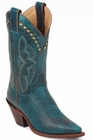 "Store Specials Size 5.5 Justin Ladies Classic Western Turquoise Damiana L4302<Font color=""Red""> B</Font>"