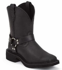 Store Special Size 5.5 Justin Women Black Gypsy Boots L9991