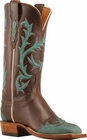 Store Special Size 5.5 Ladies Lucchese 2000 Chocolate Oil Calf Horseman Boots T1733