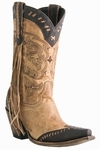 Store Special Size 5.5 Lucchese Ladies Fringed Tucson Ft. Worth Leather Cowgirl Boot M5023