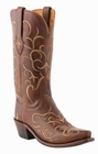 Store Special Size 5.5 Lucchese Since 1883 Womens Tan Ranch Hand Fancy Stitch Leather Boots M5035